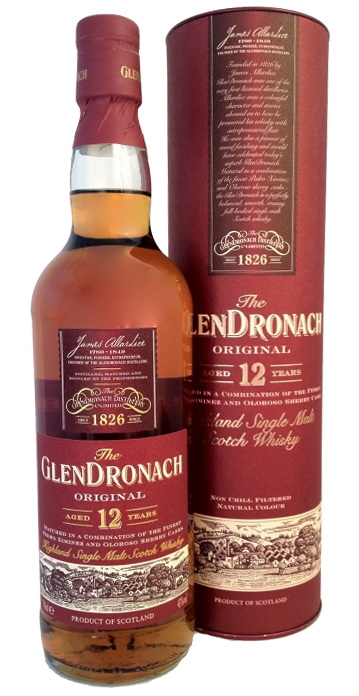 Glendronach Original Highland Single Malt Scotch Whisky 12 years