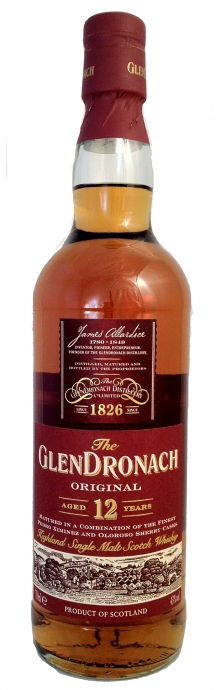 Glendronach Original Highland Single Malt Scotch Whisky 12 years