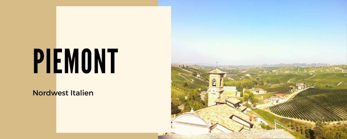 Piemont Weinanbaugebiet Norditalien