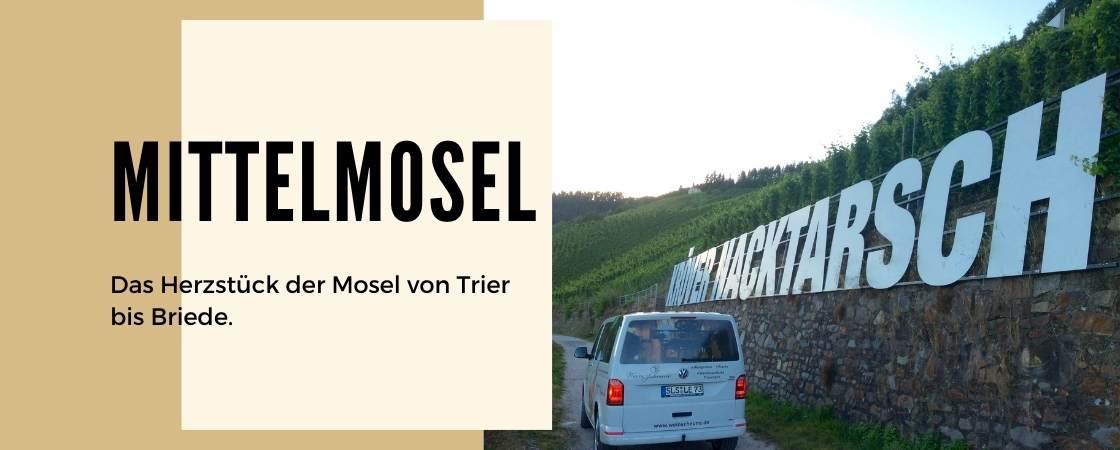 Weinanbaugebiet Mittelmosel in Deutschland