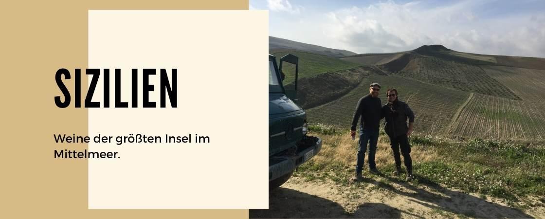 Weinanbaugebiet Sizilien in Italien