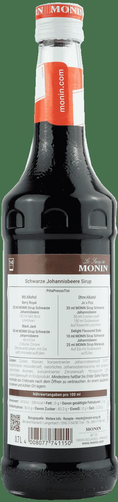 Monin Sirup Schwarze Johannisbeere 0,7l Cassis Sirup