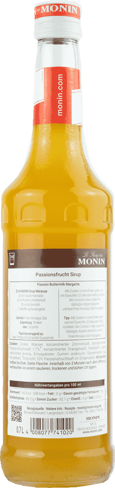 Monin Sirup Maracuja 0,7l Passionsfrucht
