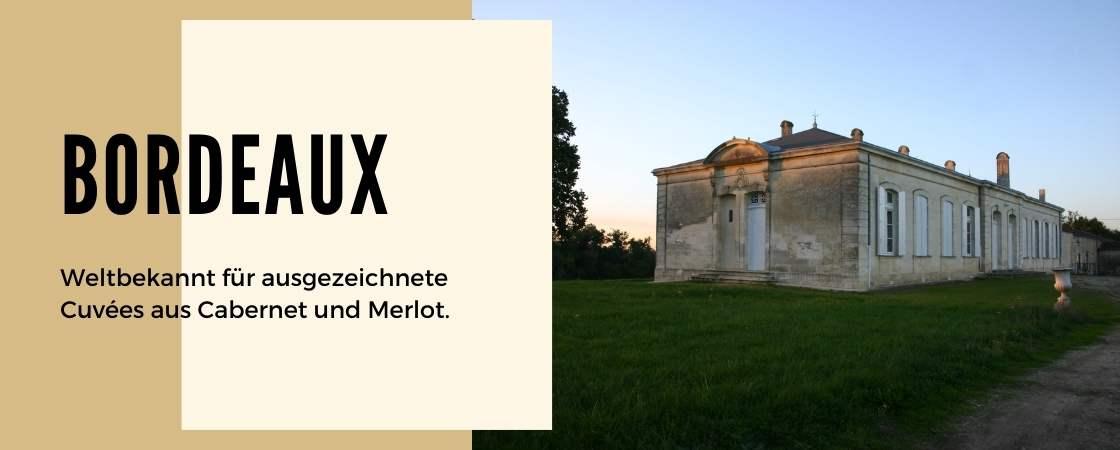 Weinanbaugebiet Bordeaux in Frankreich