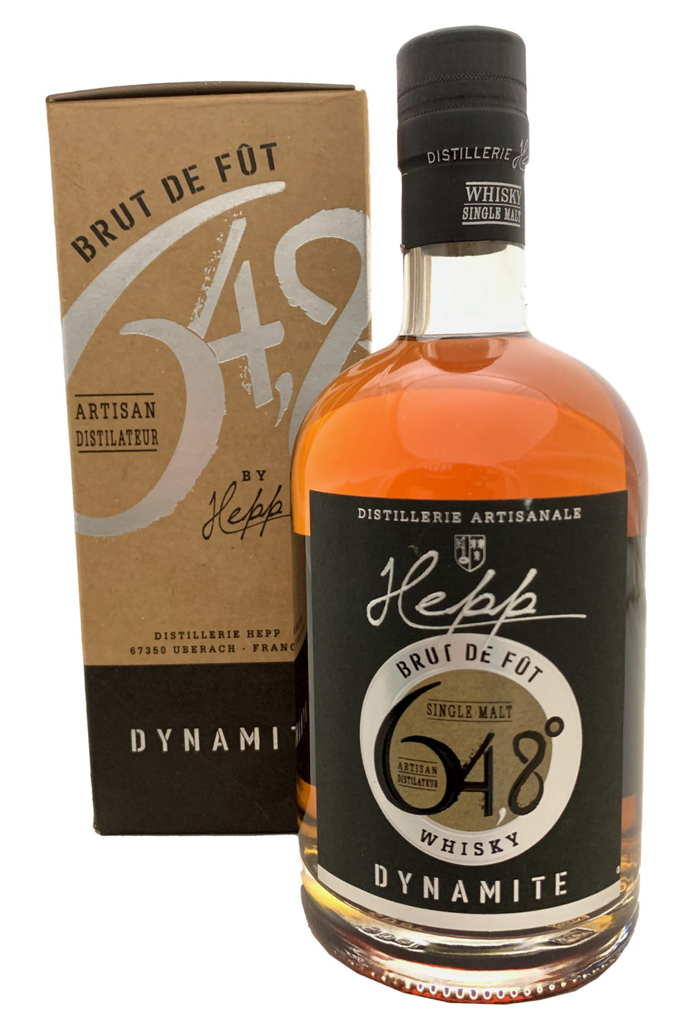Distillerie Hepp Single Malt Whiskey Dynamite Brut de Fût 64,8%