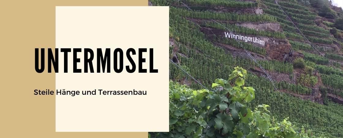 Weinanbaugebiet Untermosel in Deutschland