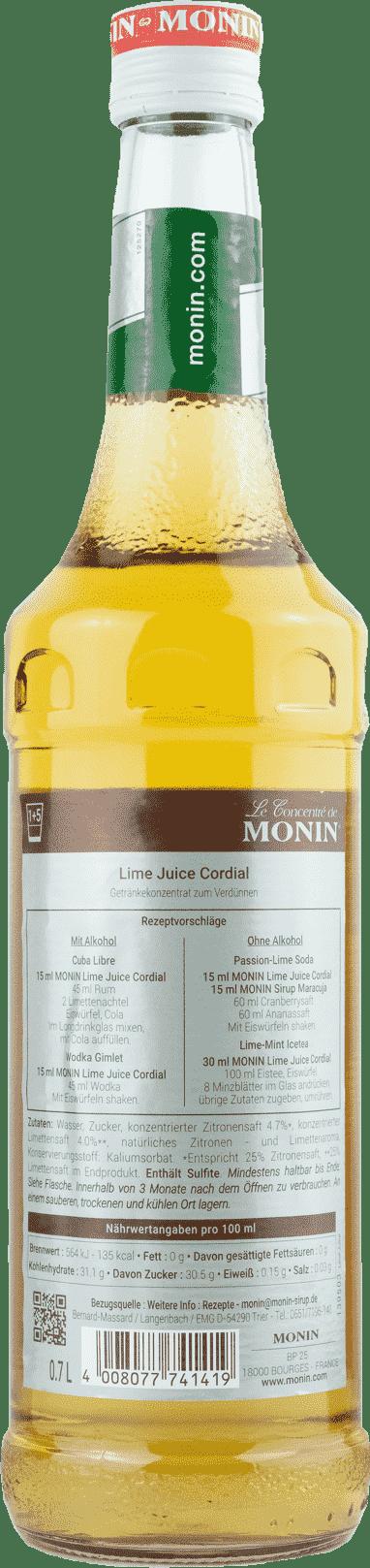 Monin Lime Juice Cordial  0,7l Konzentrat
