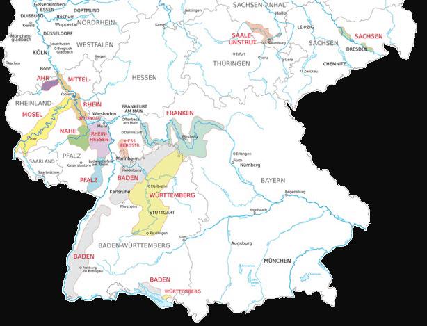 Unsere deutschen Anbaugebiete