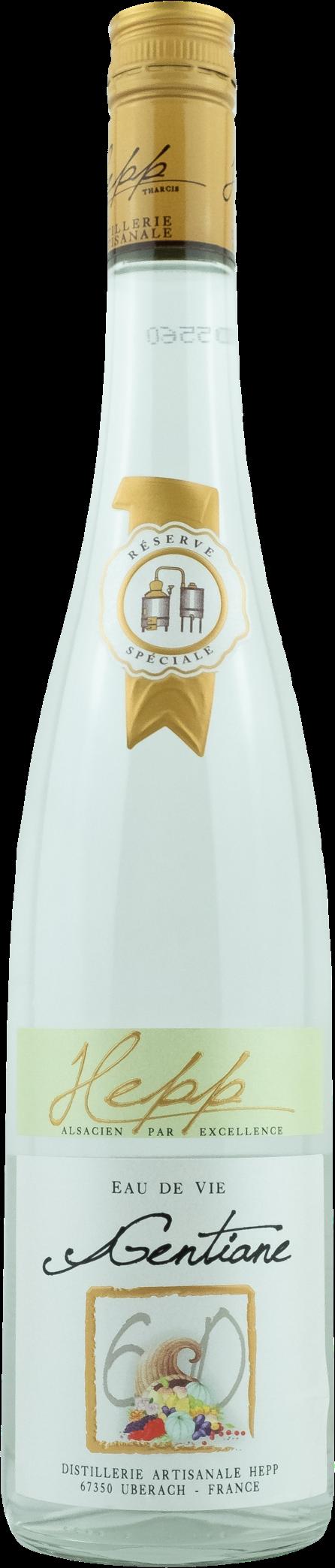 Distillerie Hepp EAU DE VIE Gentiane Nr. 60 Enzian