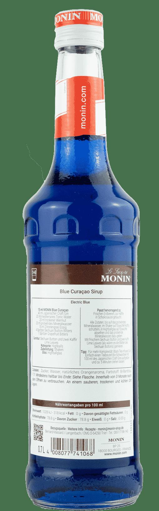 Monin Sirup Blue Curaçao 0,7l