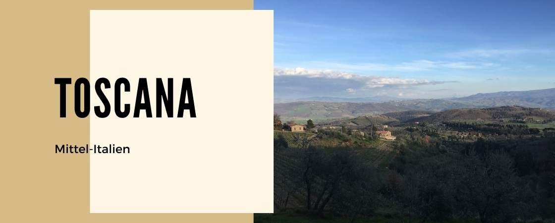 Weinanbaugebiet Toskana in Italien