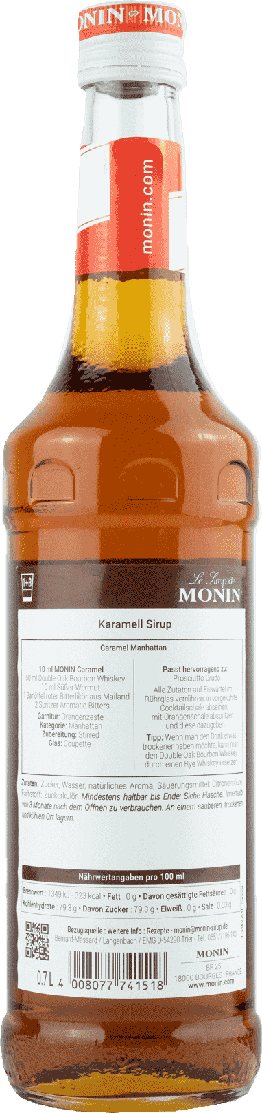 Monin Sirup Caramel 0,7l Karamell