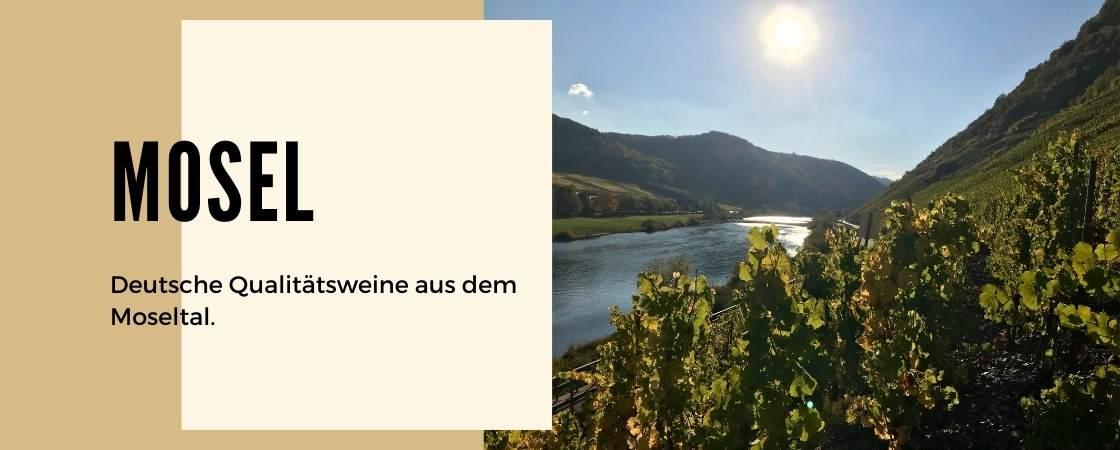 Weinanbaugebiet Mosel in Deutschland