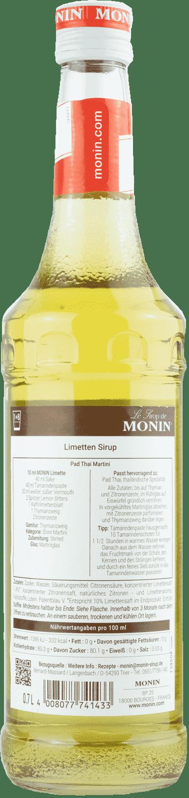 Monin Sirup Limette 0,7l