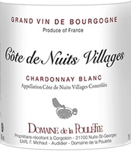 Domaine de la Poulette Côte de Nuits Villages Blanc 2013