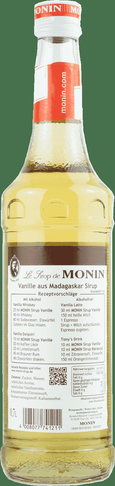 Monin Sirup Vanille 0,7l  Madagaskar